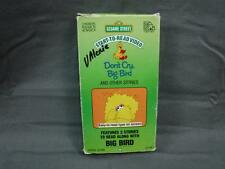 Rare VHS Video Tape Sesame Street Don't Cry Big Bird Start To Read
