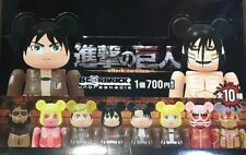 Medicom 2017 be@rbrick Attack on Titan 100% keychain bearbrick full set 10pcs