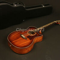 40in Zuwei Hardmade limated Edition Acoustic Guitar D Style Koa Top&back