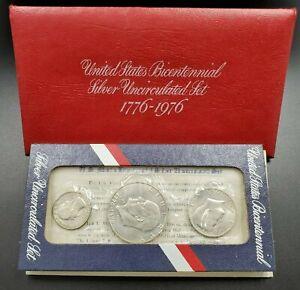 1976 S 3PC US Mint UNC Silver Set OGP COA RobinsonsCoinTown Combo Ship Discounts