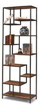 "88"" H Rosetta Bookcase Iron Reclaimed Wood Years Old Board Shelf"