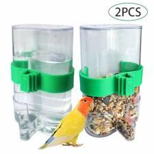 New listing Parakeet Water Dispenser,No-Mess Parrot Feeder,Parakeet Waterer Other Bird 2Pcs