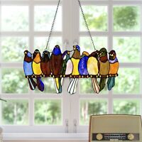Stained Bird Window Hanging Suncatcher Acrylic Hanging Birds Decoration