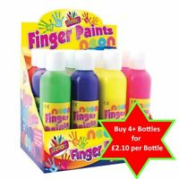 Neon Finger Paints -  200ml - Kids Paint Ready Mix Art Play Easy Wash