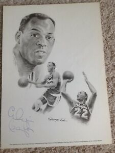 Autographed ELGIN BAYLOR Lithograph LOS ANGELES LAKERS Signed Litho NBA