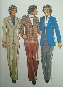 """Vintage 1970s Style Teen Jacket Trousers Sewing Pattern 4727 Chest 35"""" 89cm"""