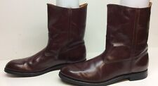 VTG MENS SEARS COWBOY LEATHER BURGUNDY BOOTS SIZE 10.5 B