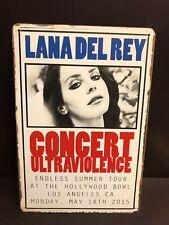 LANA DEL REY ULTRAVIOLENCE Concert Poster Vintage Small Metal Sign 20x30 Cm