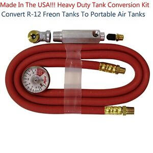 Milton USA S682 Heavy Duty Tank Conversion Kit Freeon/Air W/4' Hose Assembly