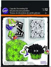 Wilton Cupcake Spider Green Cup cake Decorating Kit 24 Sets Halloween Party New