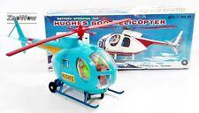 Hughes 500 helicóptero 1970s Masudaya Modern Toys #4179 electrónico la energía de la batería