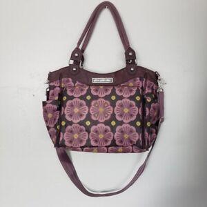 Petunia Pickle Bottom Bavarian Bliss City Carryall Diaper Bag Purple Floral Baby