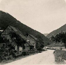 Allemagne c. 1900 - Stéréo Rue de MÜHLTHAL Bord du Rhin - 22