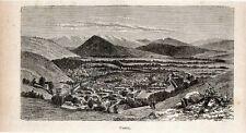 Stampa antica KABUL veduta panoramica Afghanistan 1905 Old print