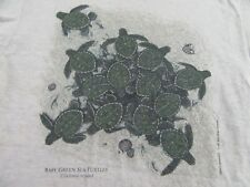 Vintage '96 Baby Green Sea Turtles Liberty Graphics Maine T Shirt Size M