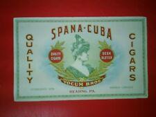 CIGAR INK BLOTTER VINTAGE SPANA CUBA CIGAR YOCUM MORE BLOTTERS AT GOLDENHILL3898