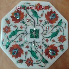 center coffee 2'x2' Marble mosaic inlay table top dining corner table SIDE green