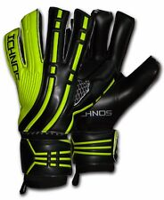 ICHNOS ARCOS BLACK LIME SOCCER FOOTBALL FINGERSAVE GOALKEEPER GLOVES SIZE 9