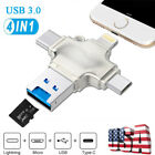 USB 3.0 Micro TF Card Reader Adapter Flash Drive Type-C OTG For iPhone Android