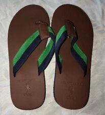 Polo Ralph Lauren Boy Brown Flip Flops Size M