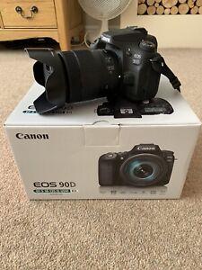 CANON EOS 90D EF-S 18-135 IS USM Kit 32MP DIGITAL SLR CAMERA 4K VIDEO Low Usage