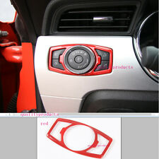 red ABS Head Light Switch Control Trim Cover For Ford F150 F-150 2015 2016