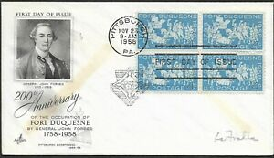 Mr B'S 200th Anniversary Fort Duquesne FDC 1958 Pittsburgh, PA