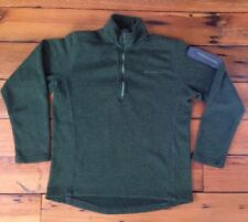 "Eddie Bauer Womens Olive Green Performance Travel Knit Fleece Zip Pullover L 43"""