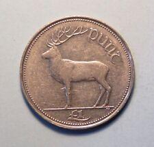 1996 Ireland Punt 1 Pound Copper Nickel World Coin Irish Harp Red Deer Eire