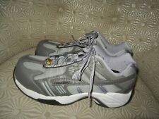 NAUTILUS Womens Silver/Gray/Lilac Alloy Toe Safety Work Shoes 9.5M #N1452 $100