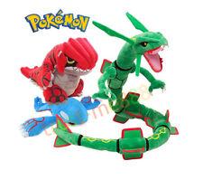 3PCS Pokemon Center Rayquaza Groudon & Kyogre Plush Pokedoll Toy Xmas Gift