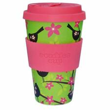 Ecoffee Cup Widdlebirdy with Pink Silicone Coffee Cup 400ml