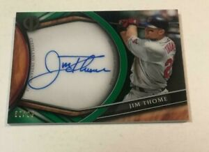 2018 Topps Tribute JIM THOME 69/99 ON CARD AUTO AUTOGRAPH NOT MINT VIEW PHOTOS