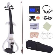 Ammoon Full Size 4/4 Solid Wood Electric Silent Violin Fiddle Style - 4 Ebony...