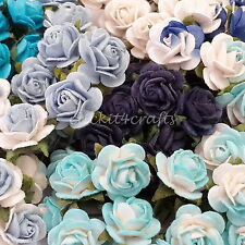 100 Mini Mulberry Paper Flowers Wedding Party Decoration Craft Supply R2-607