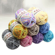 Crochet Knit Yarn soft Milk Natural Cotton Wool gradient Yarn Modern 23 Colors