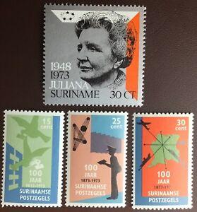 Surinam Suriname 1973 2 Commemorative Sets MNH