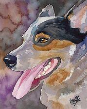 Australian Cattle Dog 11x14 signed art PRINT painting