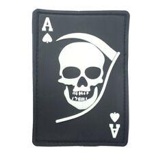 Death Ace PVC Patch Schwarz/weiß