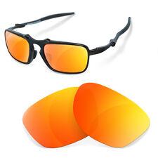 Polarized Replacement Lenses for Oakley badman fire iridium color