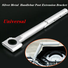 Silver Motorcycle Scooter Handlebar Post Extension Bracket Mount LED Light Style