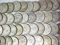 Lot of 40 Canada Silver 25 Cents 1940s-1960s Silver Quarters Circulated