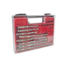 8 Piece SDS Drill Bit Set With Storage Case - DIY Power Tool Part Drilling
