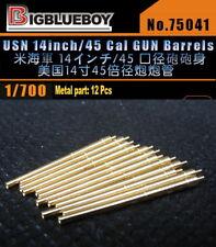 Bigblueboy resin PE 1/700 USN 356mm 14inch/45 Cal GUN Barrels 75041