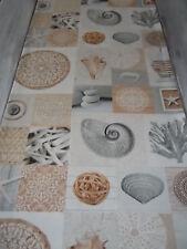 Tischläufer Fundstücke Maritim Impressionen ca.170x40 cm Fossilien Strandgut