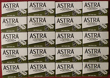 100 Astra Superior Platinum Double Edge Razor Blades for shaving Made in Russia