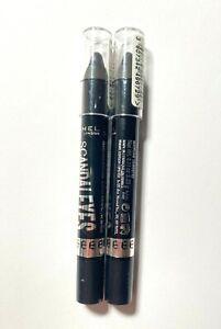 Lot of 2 Rimmel Scandaleyes 24-Hr Eyeshadow Stick Crayon Pencil 008 Blackmail