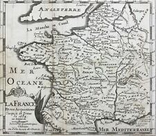 France 1746, at Truce of Ratisbon 1684 War of the Reunions by de Fer antique map