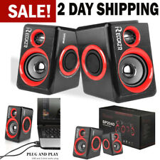 Gaming Speakers PC Surround Sound System Loud Deep Bass USB Desktop Computer NEW