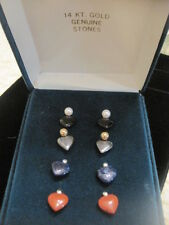 14kt Yellow Gold Interchangeable Heart Stones with Pearl and Ball ~ NIB From QVC
